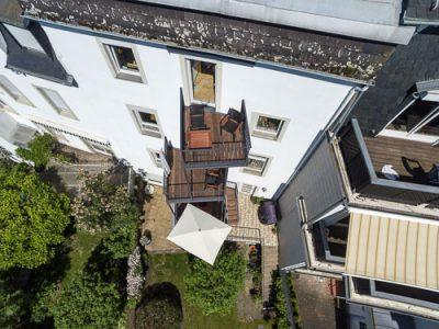 Geschmiedeter Balkon aus Metall